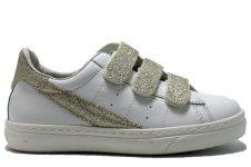 Ciao-klittenband-sneaker-wit-goud-glitter
