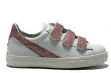 Ciao-klittenband-sneaker-wit-roze-glitter