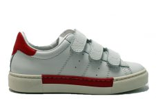 Ciao-sneaker-klittenand-wit---rood