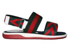 Gucci-sandaal-kabby-groen-rood