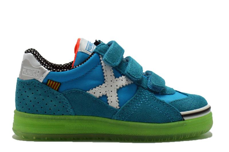 Sneakers Met Licht : Munich klittenband sneaker agua bij metskinderschoenen