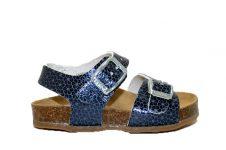 Kipling-sandaal-blauw-metallic